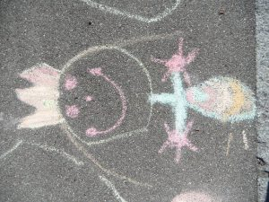 Mothers Day Chalk Art